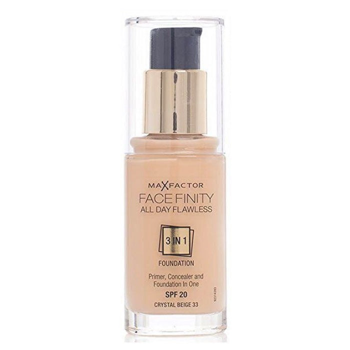 Max Factor Facefinity All Day Flawless 3 In 1 Foundation SPF 20 - # 33 Crystal Beige / Foundation | Beauty Wellbeing