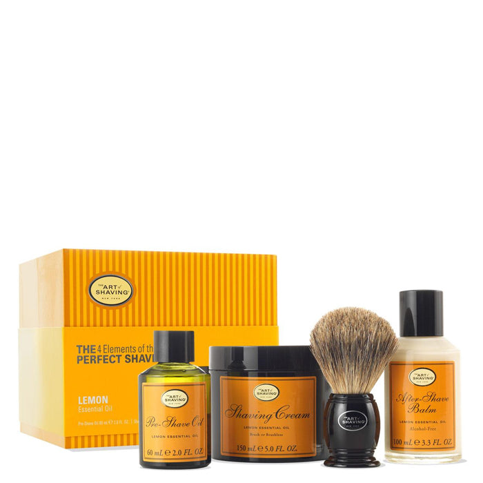 The 4 Elements of The Perfect Shave Kit - Lemon