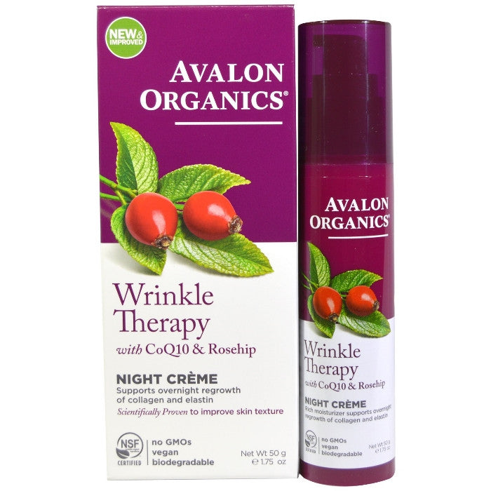Avalon Organics CoQ10 Repair Wrinkle Defense Night Crème 50g/1.75oz / Cream | Beauty Wellbeing