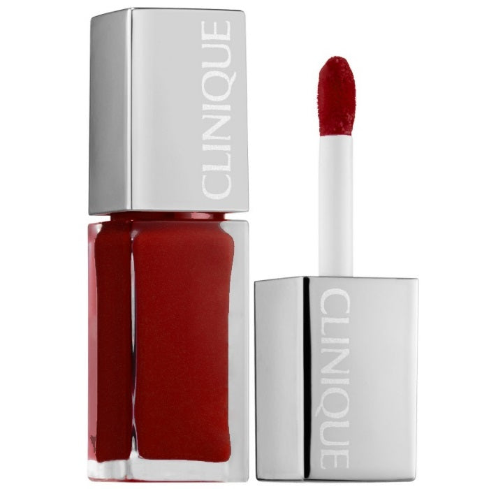 Clinique Clinique Pop Lacquer Lip Colour + Primer # 02 Lava Pop / Lip Gloss | Beauty Wellbeing