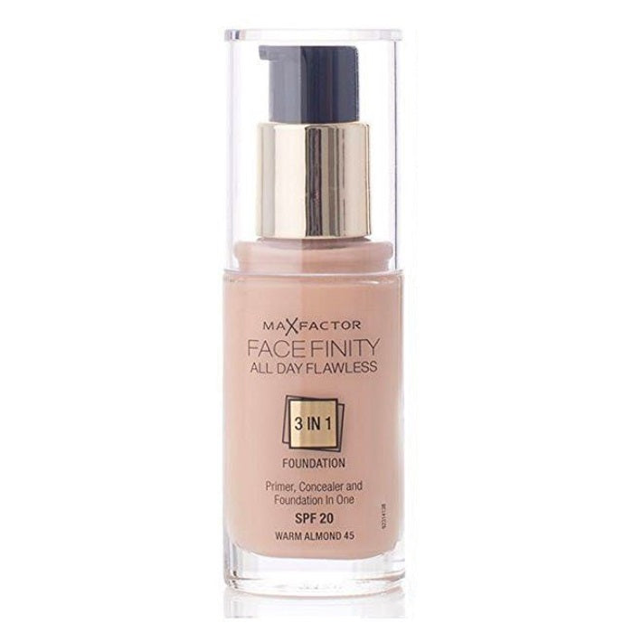 Max Factor Facefinity All Day Flawless 3 In 1 Foundation SPF 20 - # 45 Warm Almond / Foundation | Beauty Wellbeing