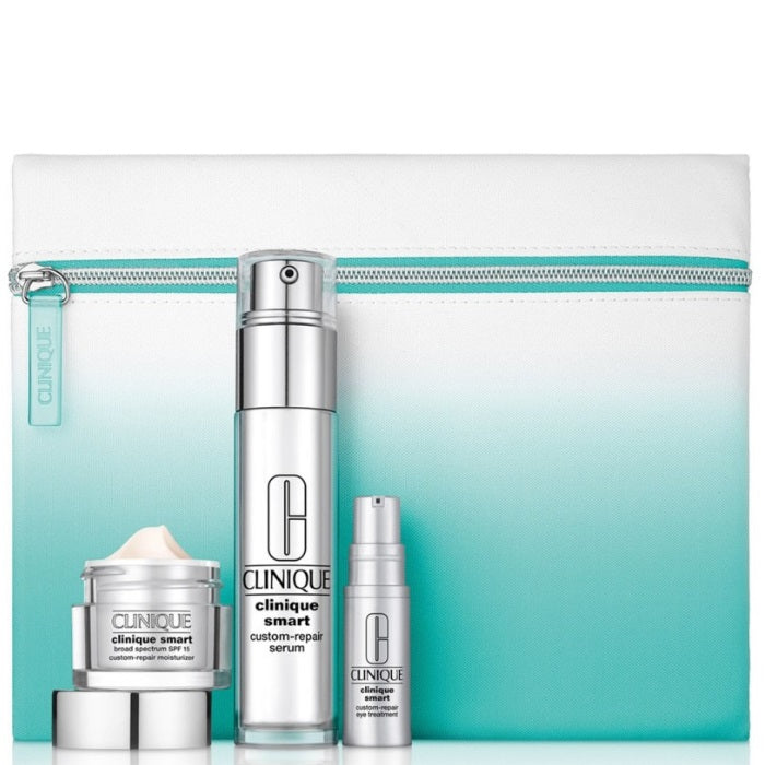 Clinique Clinique Moisturizer Smart Kit / 1.7oz Clinique Smart SPF 15 Custom-Repair Moisturizer, 0.34oz Clinique Smart Custom-Repair Serum, 0.17oz Clinique Smart Custom-Repair Eye Treatment And Bag | Beauty Wellbeing