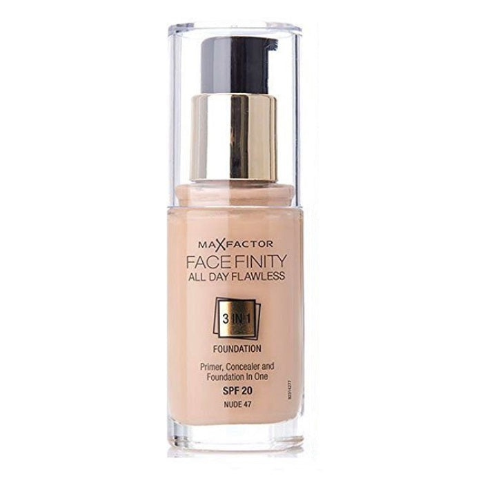Max Factor Facefinity All Day Flawless 3 In 1 Foundation SPF 20 - # 47 Nude / Foundation | Beauty Wellbeing