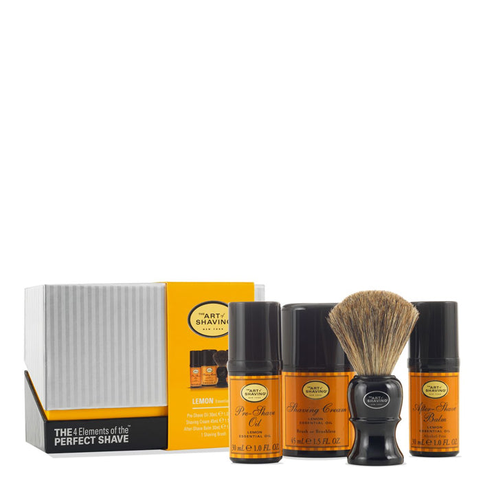 The 4 Elements of The Perfect Shave Mid-Size Kit - Lemon