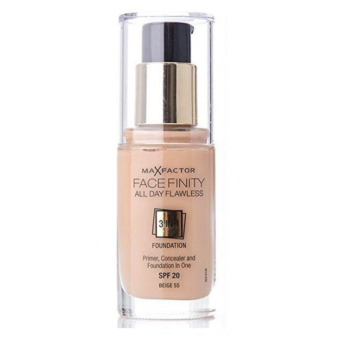 Max Factor Facefinity All Day Flawless 3 In 1 Foundation SPF 20 - # 55 Beige / Foundation | Beauty Wellbeing