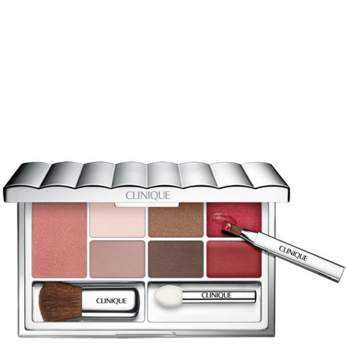 Clinique Color Getaway Make Up Palette / 0.06oz Blushing Blush Powder Blush - Sunset Glow # 07, 0.14oz All About Shadow Quad - Blush From Pink Chocolates Quad # 3C, Mulch From Like Minkn Duo # 1E, Nude Rose # 3A, Stormy # 5W, 0.02oz Butter S | Beauty Wellbeing