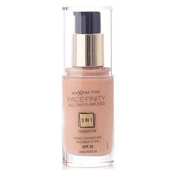 Max Factor Facefinity All Day Flawless 3 In 1 Foundation SPF 20 - # 65 Rose Beige / Foundation | Beauty Wellbeing