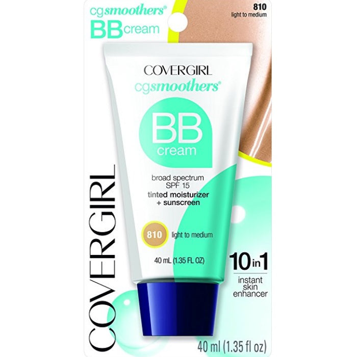 CoverGirl CG Smoothers BB Cream Tinted Moisturizer + Sunscreen SPF21 # 810 Light To Medium / Foundation | Beauty Wellbeing