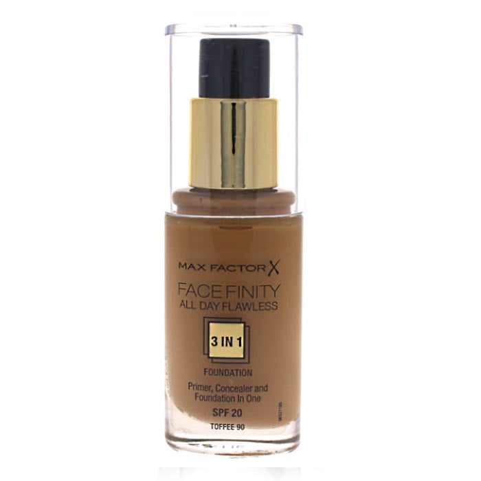 Max Factor Facefinity All Day Flawless 3 In 1 Foundation SPF20 - # 90 Toffee / Foundation | Beauty Wellbeing