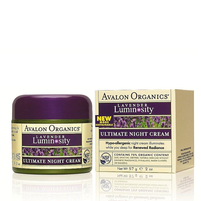 Avalon Organics Ultimate Night Cream Lavender 57g/2oz / Cream | Beauty Wellbeing