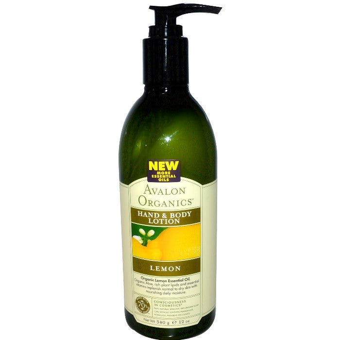 Avalon Organics Hand & Body Lotion - Lemon 340g/12oz / Hand & Body Lotion | Beauty Wellbeing
