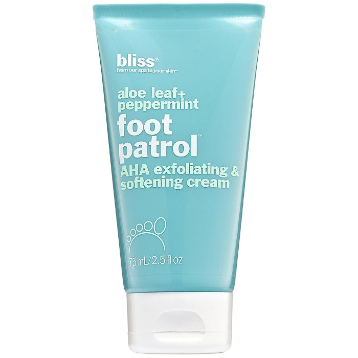 Aloe Leaf + Peppermint Foot Patrol AHA Exfoliating & Softening Cream 75ml/2.5oz | Beauty Wellbeing