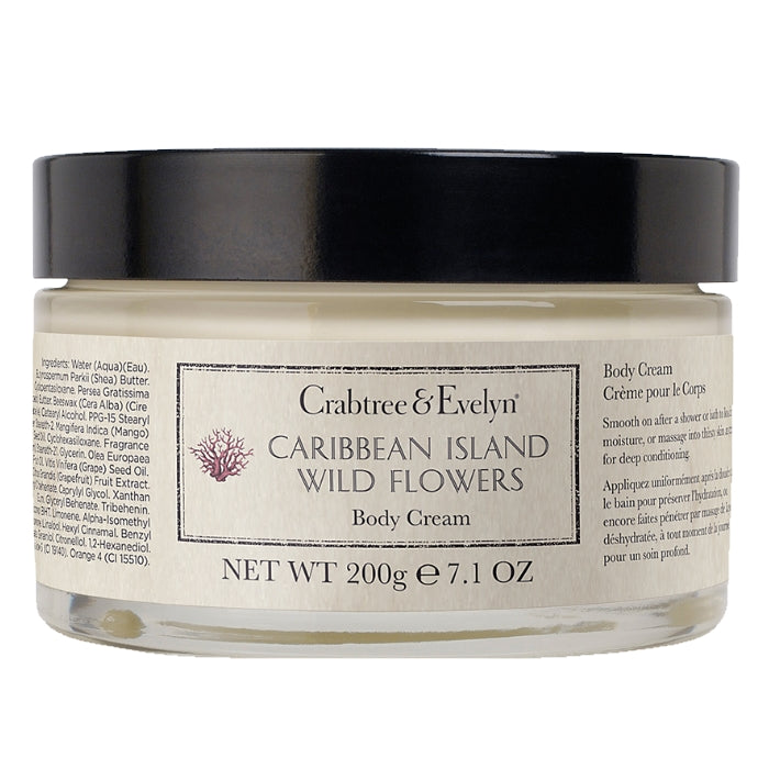Caribbean Island Wild Flowers Body Cream | Beauty Wellbeing