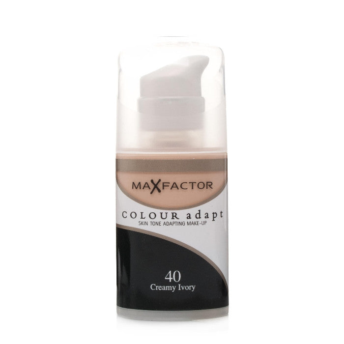 Max Factor Colour Adapt Skin Tone Adapting Makeup - # 40 Creamy Ivory 34ml | Beauty Wellbeing
