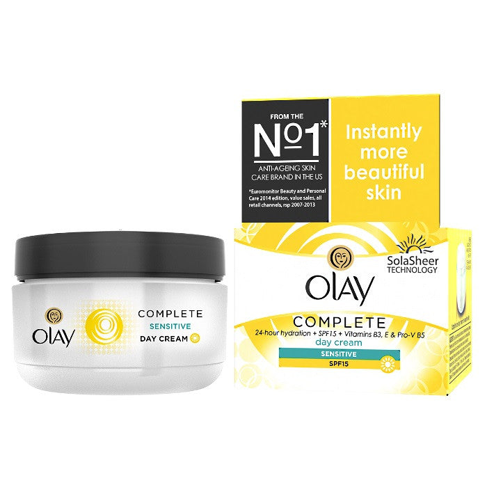 Olay Essentials Complete Care Day Cream SPF 15 - Sensitive Skin / Cream | Beauty Wellbeing