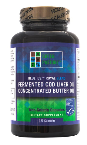 BLUE ICE™ Royal Butter Oil/Fermented Cod Liver Oil Blend - Capsules $72