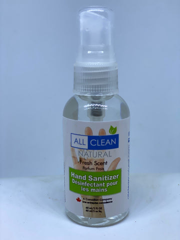 All Clean Natural Hand Sanitizer - Canadian Made (High Quality)