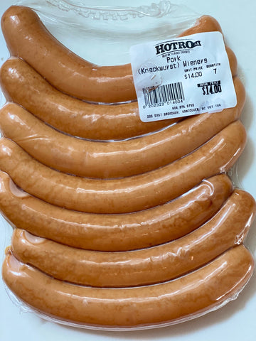 100% Natural Pork Wieners - made with pastured pork