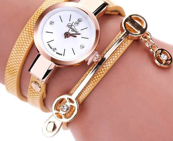 Bracelet Watch Gold Quartz