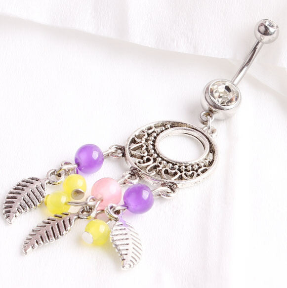 Beautiful Crystal Design Belly Button Ring