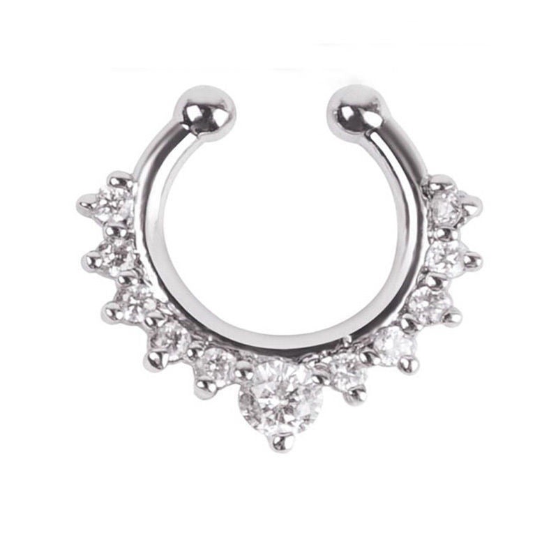 Alloy Crystal Nose Hoop Ring