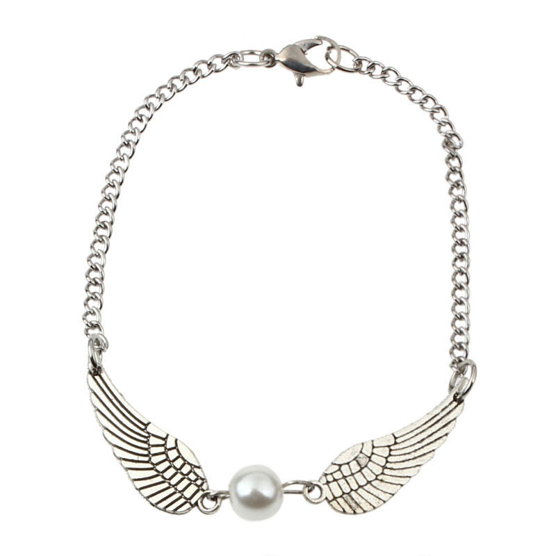Angel Wings Vintage Infinity Bracelet