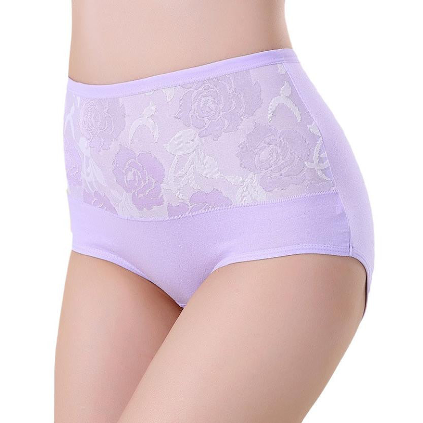 Amazing High Waist Seamless Flower Printed Panties