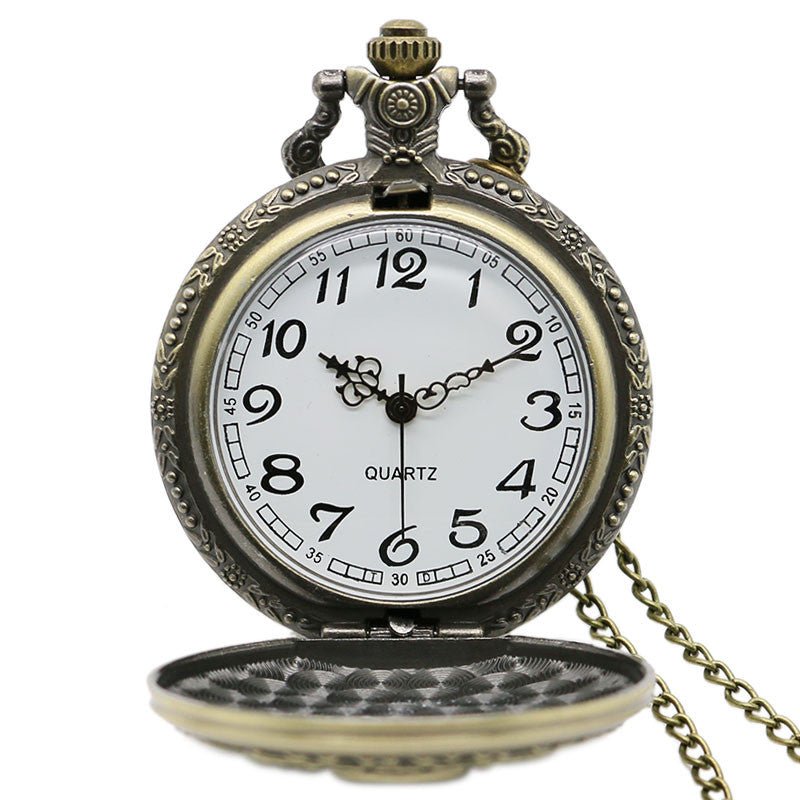 Amendment Defending Vintage Pocket Watch Chain Necklace Pendant
