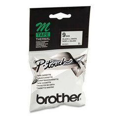 BROTHER 9MM BLK ON WHT TAPE for PT65 PT85 PT100