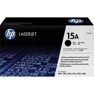 HP 15A BLACK LJ TONER CART C7115A