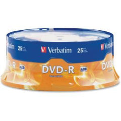 VERBATIM DVD-R 25pk Spindle - 4.7GB 16x