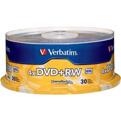 VERBATIM DVD+RW 30pk Spindle - 4.7GB 4x