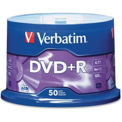 VERBATIM DVD+R 50Pk Spindle-4.7GB 16x