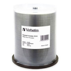 VERBATIM CD-R 80 Min WHT Wide THERM 100 Pk 52x