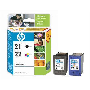 HP 21/22 INK CARTRIDGE COMBO PACK