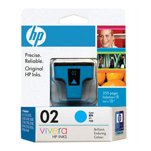 HP 02 CYAN INK CART C8771WA