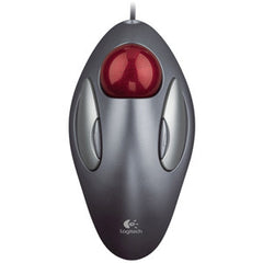 LOGITECH TRACKMAN MARBLE Ambidextrous trackball design fingertip control marble optical technology convenient buttons. 3 Years Limited Warranty