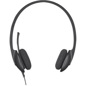 LOGITECH H340 USB HEADSET - BLACK Logitech USB Headset H340. Internet calls and stereo sound in seconds. Achieve quality audio quickly and easily by plugging in the USB connection