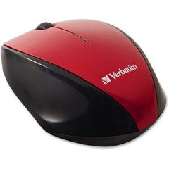 VERBATIM  Wireless Optical Multi-Trac Blue LED Mouse - Red