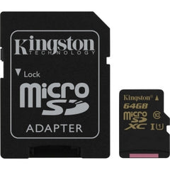 KINGSTON 64GB microSDXC CL10 UHS-I 90R/45W