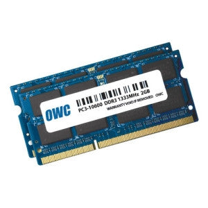 OTHER WORLD COMPUTING 2GB x 2 PC10600 DDR3 SODIMM 4GB Kit