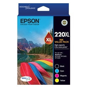 EPSON 220XL VP HIGH CAPACITY DURABRITE ULTRA 4 - EPSON WORKFORCE WF-2630 WF-2650 WF-2660