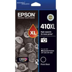 EPSON 410XL HIGH CAPACITY CLARIA PREMIUM - PHOTO BLACK INK CARTRIDGE (XP-530 XP-630)