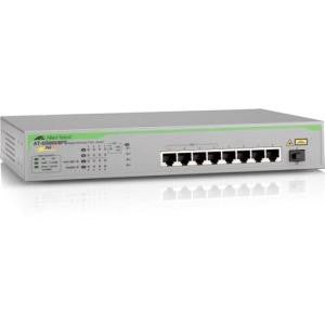ALLIED TELESIS 8-port 10/100/1000T unMng Swt with PoE+