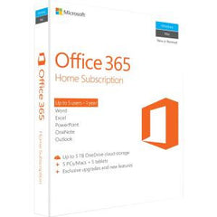 MICROSOFT OFFICE 365 HOME SUBSCR 1YR BOX P2