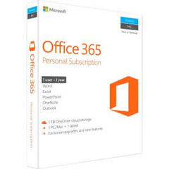 MICROSOFT OFFICE 365 PERSONAL SUBSCR 1YR BOX P2