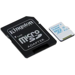 KINGSTON 64GB microSDXC UHS-I U3 90R/45W Actn crd