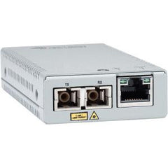 ALLIED TELESIS 10/100/1000T TO 1000SX/SC GIGABIT MINI MEDIA CONVERTER WITH MULTI-MODE SC FIBER CONNECTOR