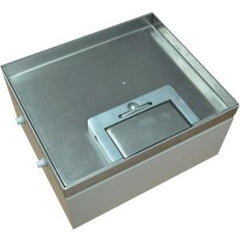 Cableaway FLOOR BOX 19 SS RECESSED 4 POWER 4 DATA