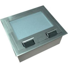 Cableaway FLOOR BOX SS RECESSED 4 POWER 4 DATA